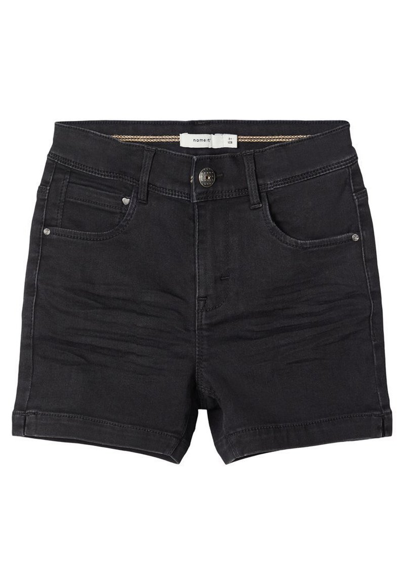 Name it - Jeansshort - black denim