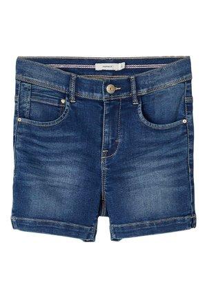 HIGH WAIST - Short en jean - medium blue denim