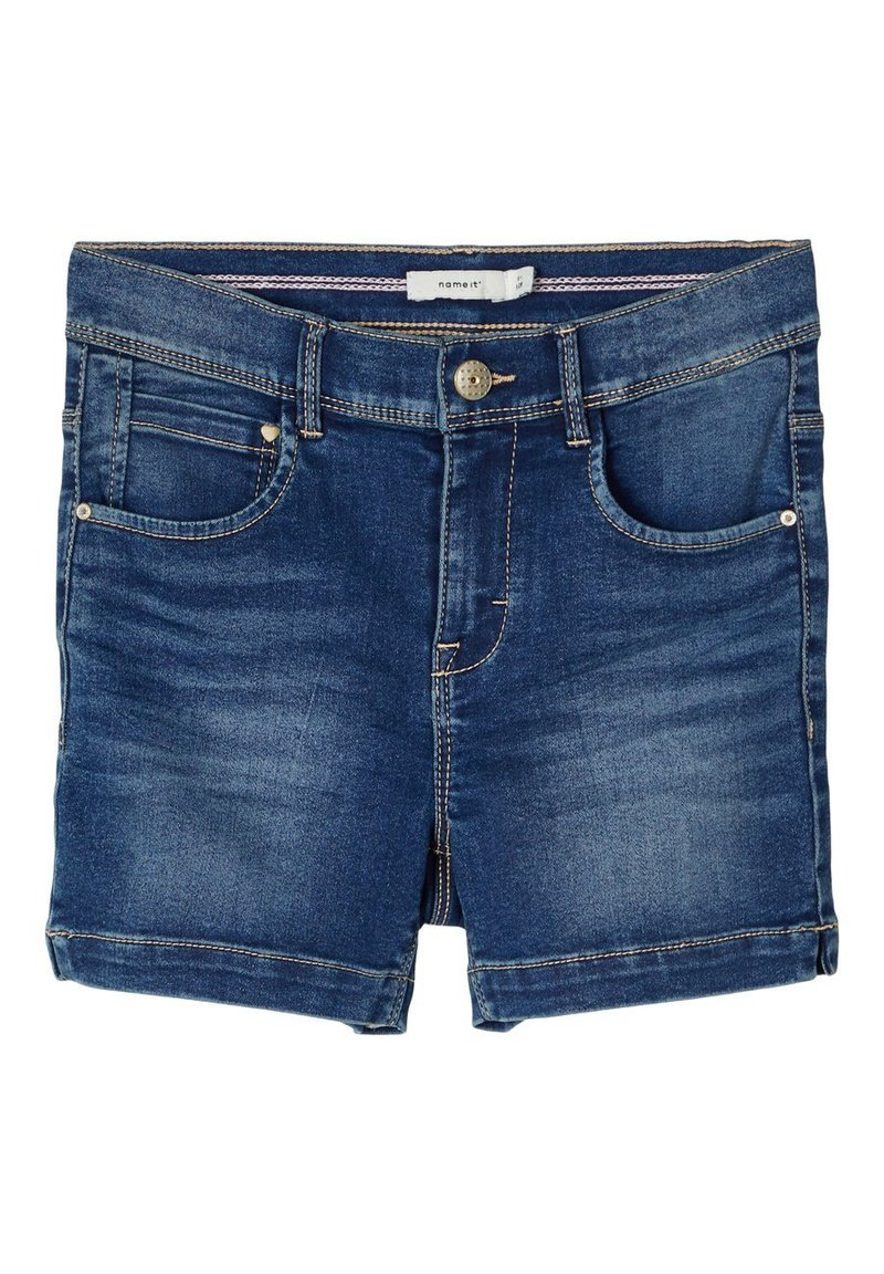 Name it - HIGH WAIST - Shorts di jeans - medium blue denim