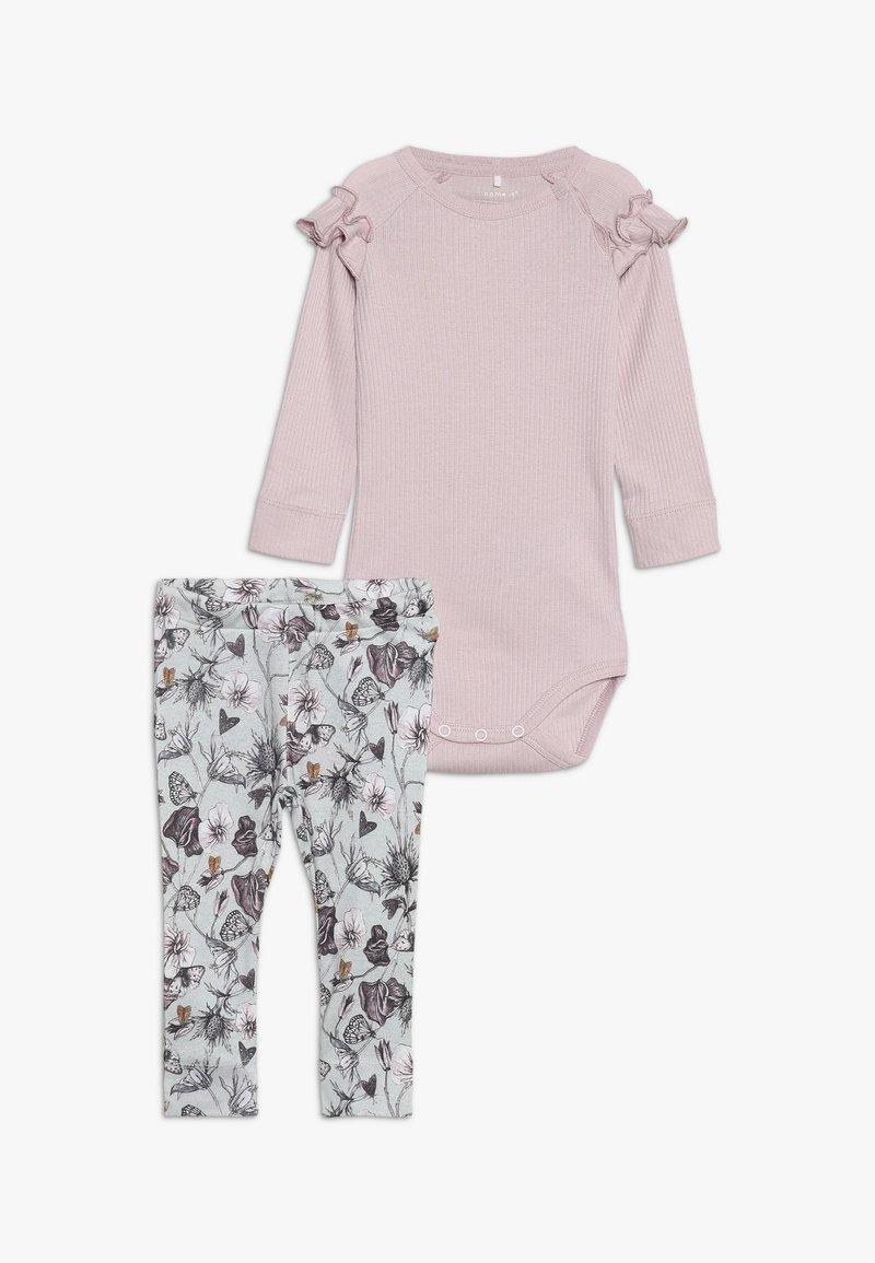 Name it - BODY SET - Leggings - Hosen - sky gray/violet