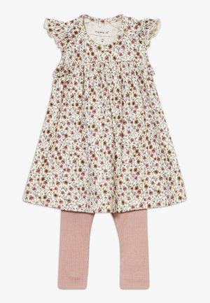 NBFHUTINA DRESS NBFHORINA SET - Leggings - nostalgia rose