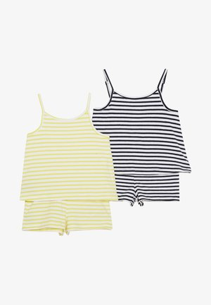 NMFJILL SHORT SUIT 2 PACK  - Overal - limelight/bright white