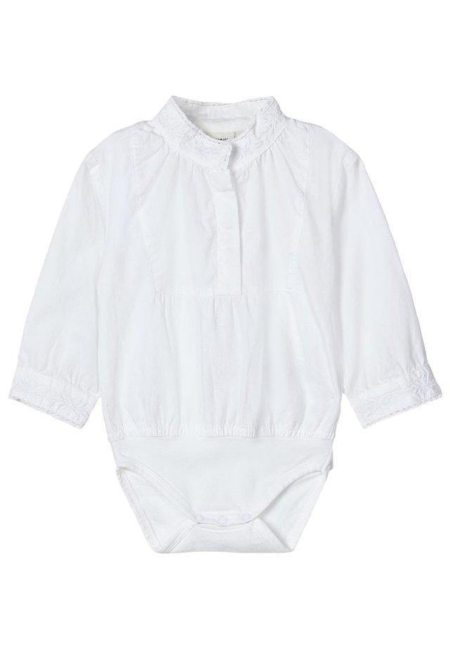 NAME IT BODY-HEMD MÄDCHEN - BESTICKTER - Body - bright white