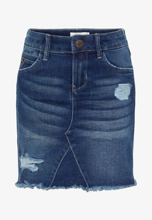 Denim skirt - dark blue denim