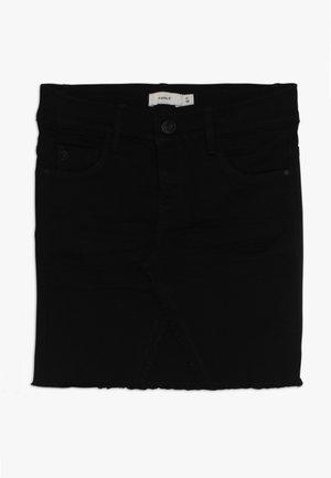 NKFSALLI SKIRT - Denimová sukně - black denim