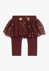 Name it - NBFRITT SKRIT LEGGING 2-IN-1 - Minijupe - cabernet - 0
