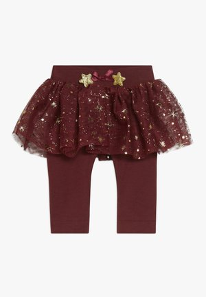 NBFRITT SKRIT LEGGING 2-IN-1 - Mini skirt - cabernet