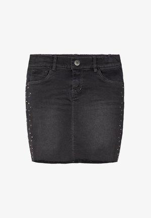 Denim skirt - dark grey denim