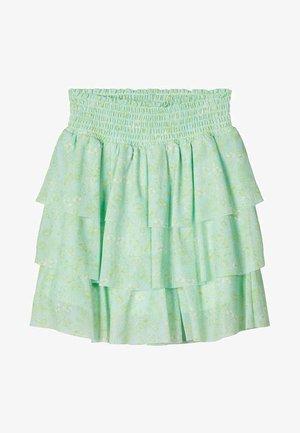 Pliceret nederdel /Nederdele med folder - pastel green