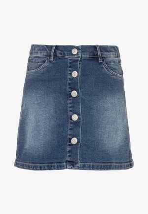NKFTEGANI A-SHAPE SKIRT - Denimová sukně - medium blue denim