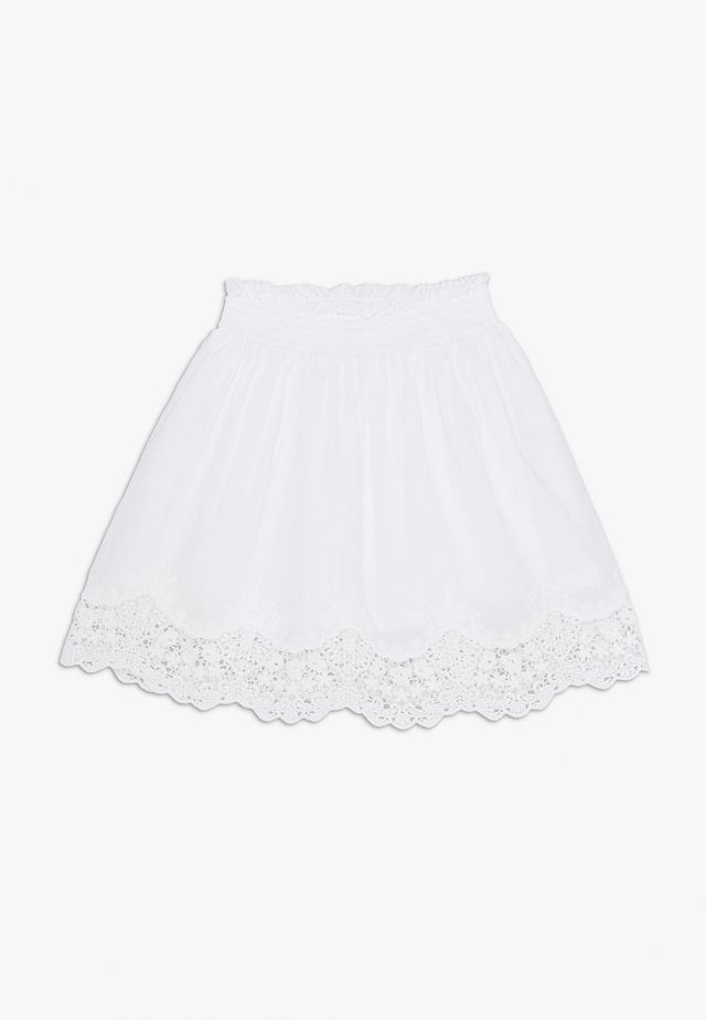 NKFHAYLA SKIRT - A-linjekjol - bright white