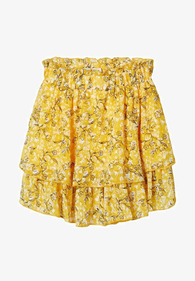 NKFKIMMIE SKIRT - Mini skirts  - spicy mustard