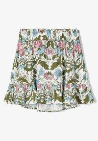 Name it - NAME IT ROCK BLUMENPRINT - A-line skirt - snow white - 1