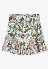 Name it - NAME IT ROCK BLUMENPRINT - A-line skirt - snow white - 2