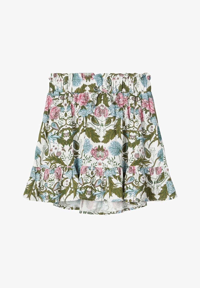 Name it - NAME IT ROCK BLUMENPRINT - A-line skirt - snow white