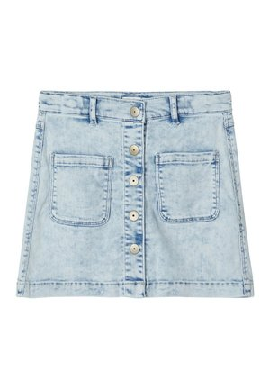 Falda acampanada - light blue denim