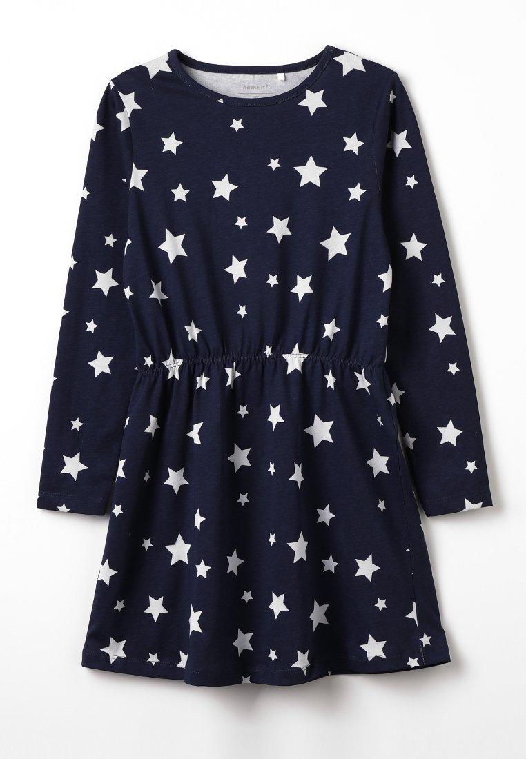 Name it - NKFVIGGA DRESS MINI - Robe en jersey - dark sapphire/grey melange