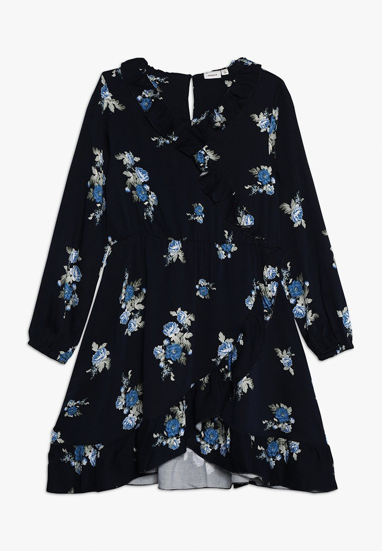 Name it - NKFBRIT WRAP DRESS - Vapaa-ajan mekko - dark sapphire