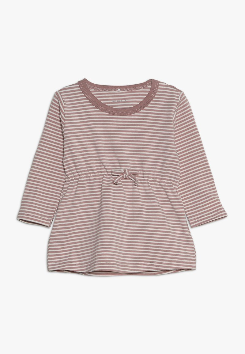 Name it - NBFDELUCIOUS STRIPE - Jersey dress - woodrose