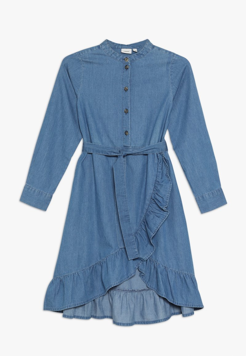 Name it - NKFLONNI DRESS - Jeanskjole / cowboykjoler - medium blue denim