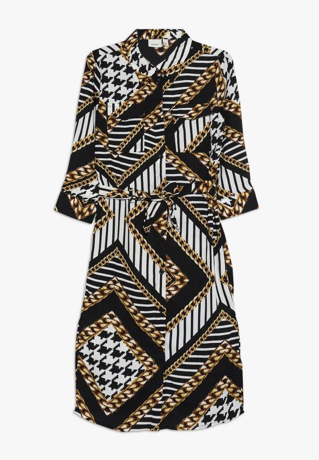 NKFLUNKA LONG DRESS - Blusenkleid - black