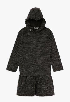 NKFOLINEA DRESS - Denní šaty - dark grey melange