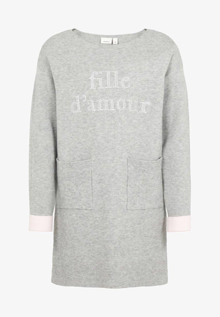 Name it - Strikkjoler - grey melange