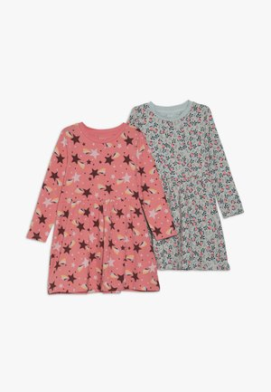 NMFVUSANNE DRESS 2 PACK - Jerseykjoler - sugar coral