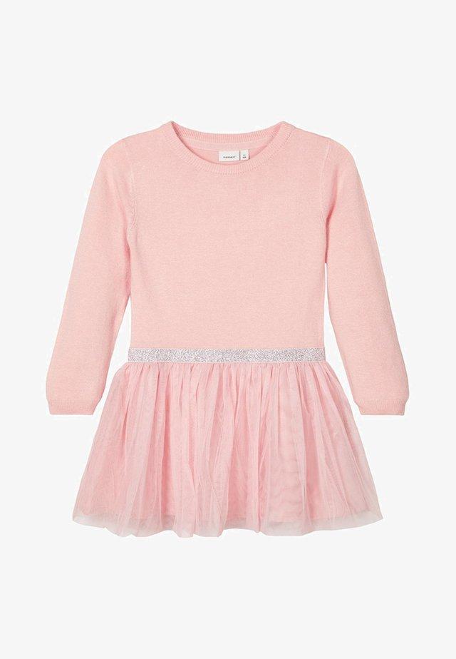 Korte jurk - silver/pink