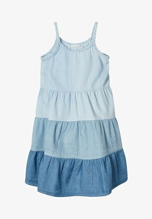 MEHRFARBIGES - Denim dress - light blue denim