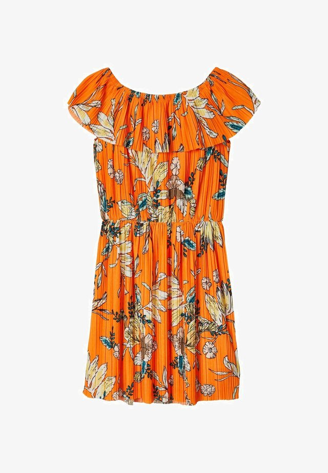 BLUMENPRINT - Korte jurk - vibrant orange