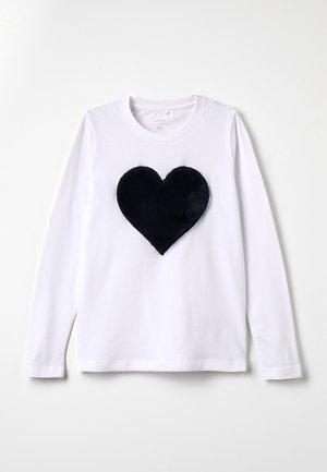 NKFFLUF HEARTMINI - Långärmad tröja - bright white