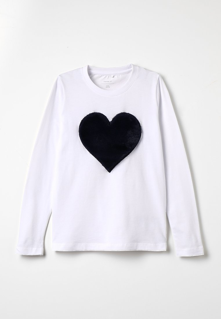 Name it - NKFFLUF HEARTMINI - Långärmad tröja - bright white