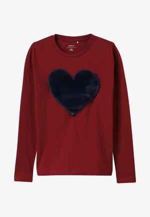 NKFFLUF HEARTMINI - Langarmshirt - cabernet