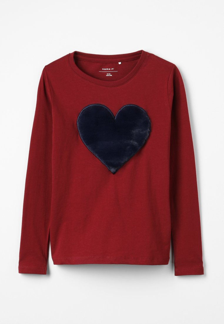 Name it - NKFFLUF HEARTMINI - Langarmshirt - cabernet