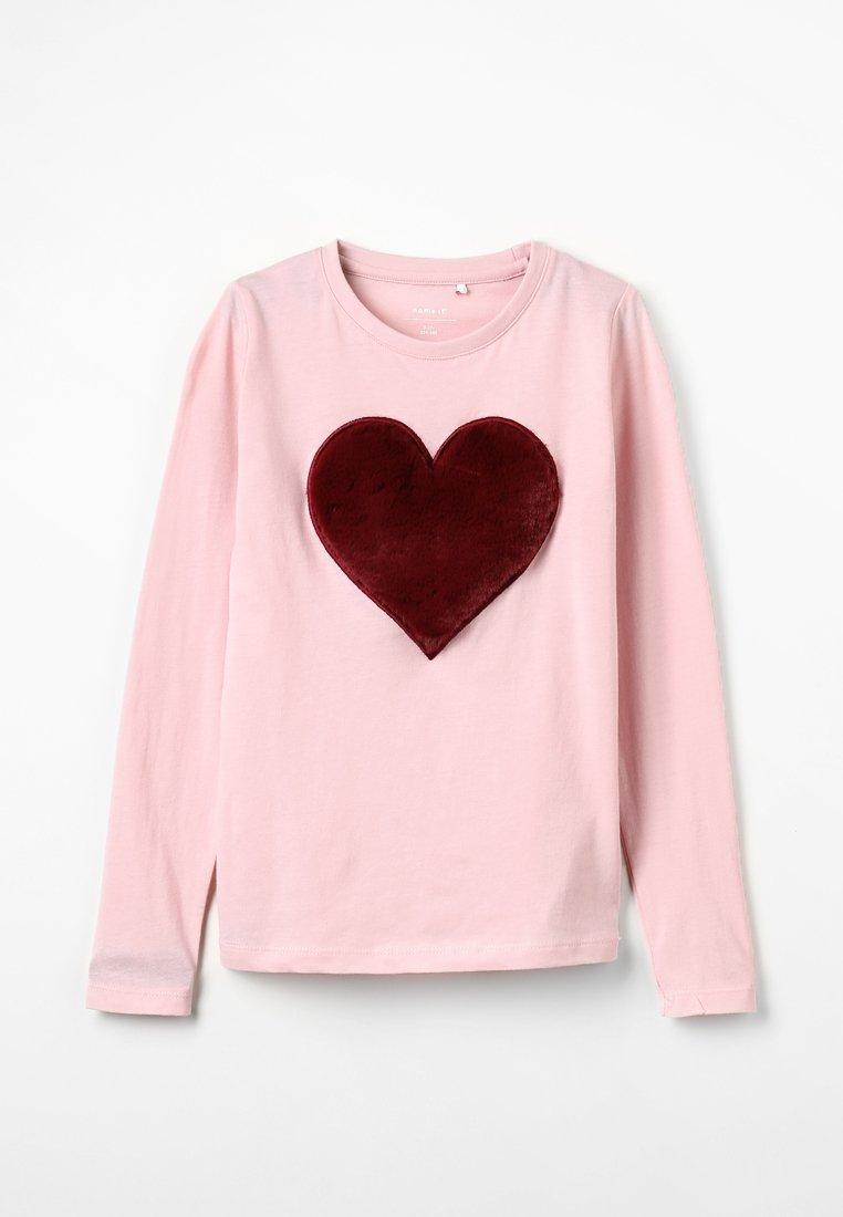 Name it - NKFFLUF HEARTMINI - Langærmede T-shirts - pink nectar