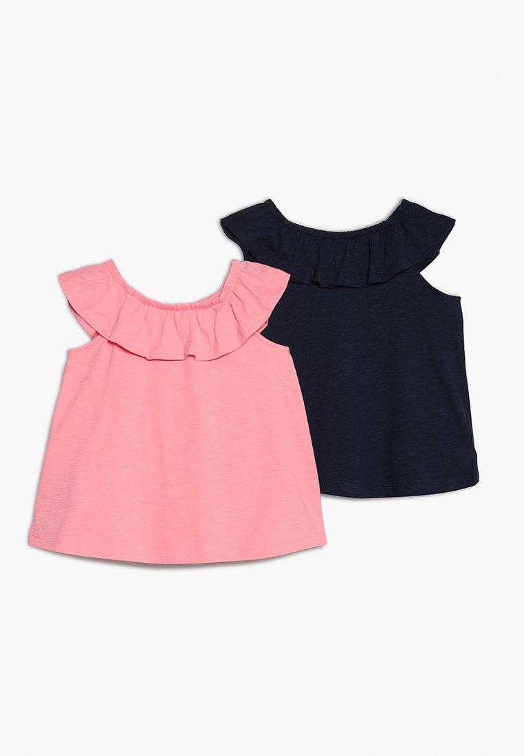 Name it - NMFVERITA TOP MINI 2 PACK - T-Shirt print - geranium pink/dark sapphire
