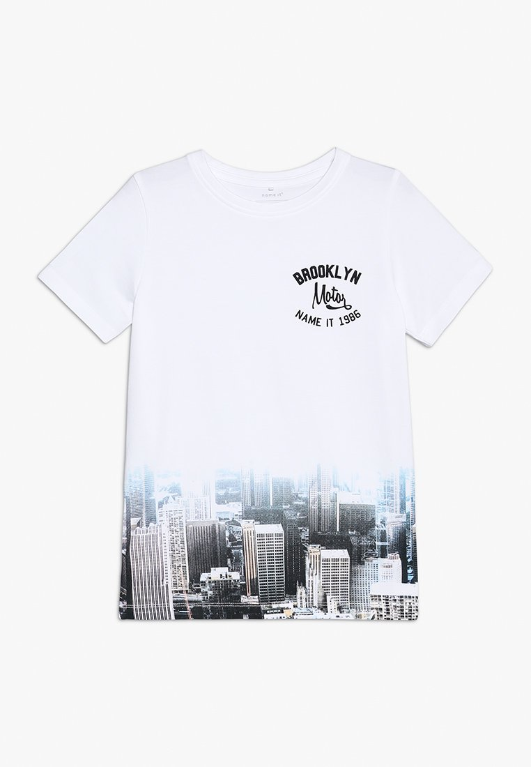 Name it - NKMSONNY BOX - Camiseta estampada - bright white