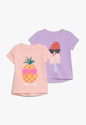 NKFVIX 2 PACK - T-shirt print - lavendula/strawberry cream