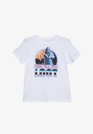 NKMFORTNITE BRIC - Print T-shirt - bright white