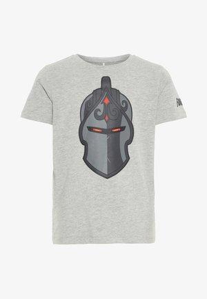 NKMFORTNITE OLLIE - T-shirt imprimé - grey melange