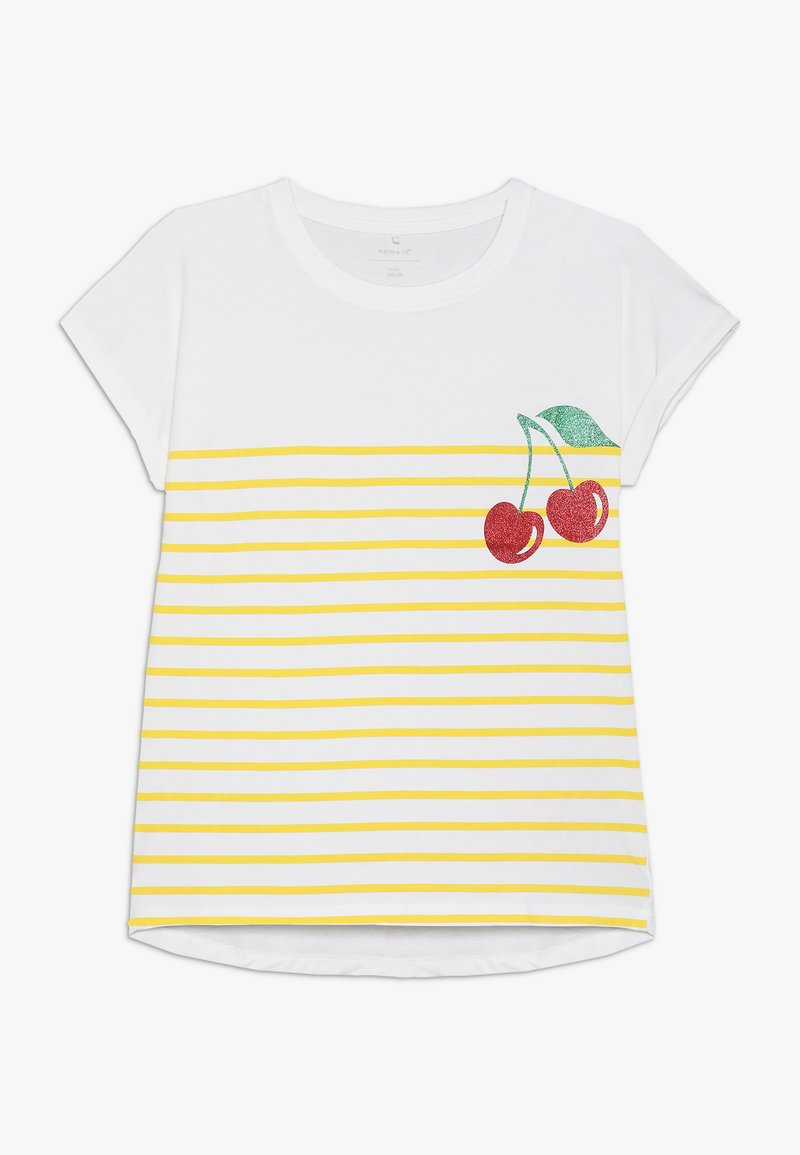Name it - NKFJPINAPPLE - T-shirts print - bright white/primerose yellow