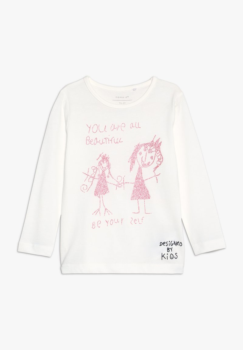 Name it - NMFKUDASSA - Langærmede T-shirts - snow white