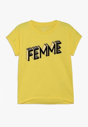 NKFLENNA - T-shirt print - primrose yellow