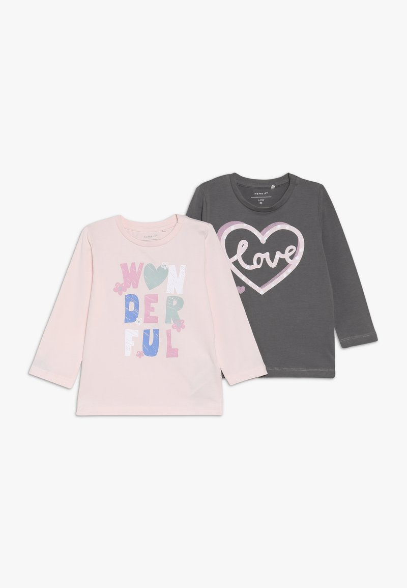 Name it - NBFLESOLINA 2 PACK - Long sleeved top - barely pink