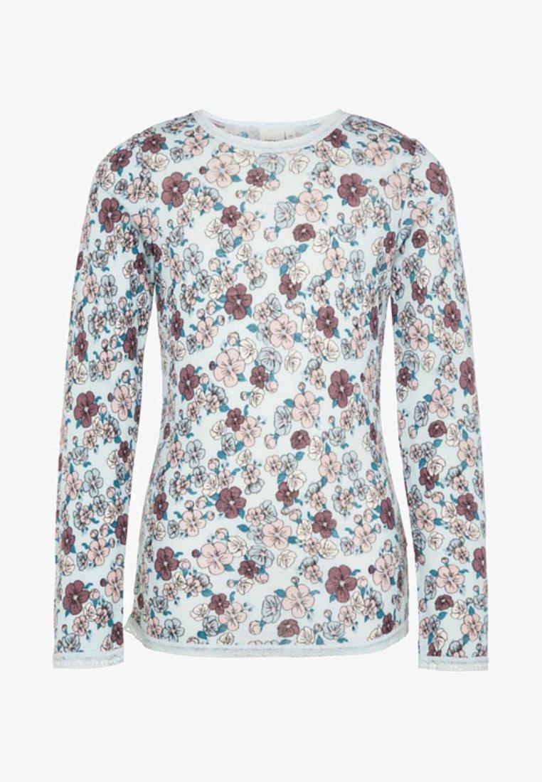 Name it - Langærmede T-shirts - misty blue