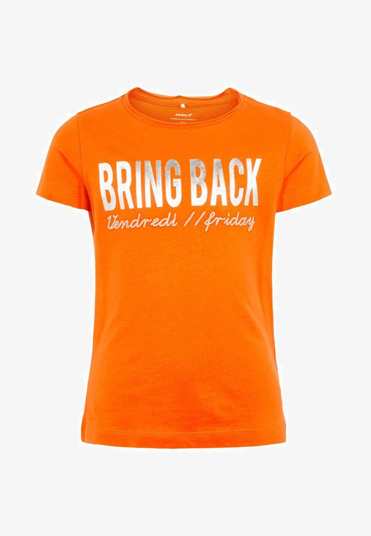 Name it - Print T-shirt - mandarin orange