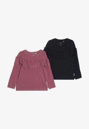 NMFVALDA 2 PACK - T-shirt à manches longues - dark sapphire