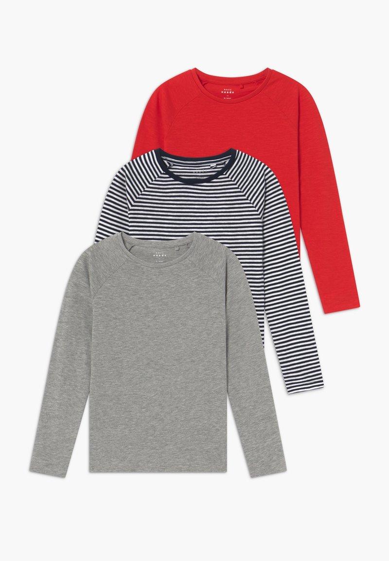 Name it - NKFVANNE 3 PACK - Maglietta a manica lunga - high risk red/grey