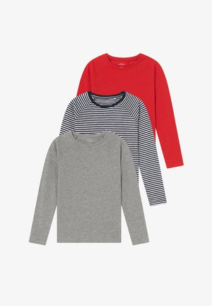 NKFVANNE 3 PACK - T-shirt à manches longues - high risk red/grey